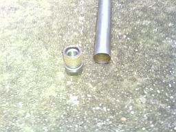 top view of 1 inch concrete core drill bit