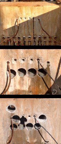 4 inch core drilling at electrical substation  Picture 1