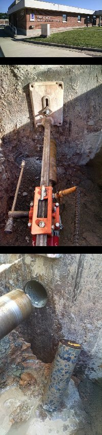 chapel Hill NC core drilling at Durham  Picture 1