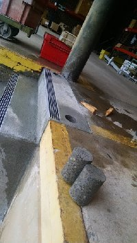 holes in concrete steps Picture 1