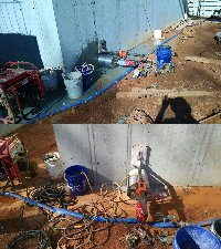 12 inch core drilling in Charlotte North Carolina Picture 1