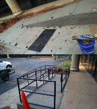 ADA hand-railings for concrete ramp Picture 1