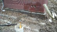 six inch core drill hole in brick wall Picture 1