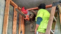 coring 8 inch hole in concrete wall Picture 1