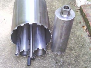 view of 12 inch concrete core drill bit